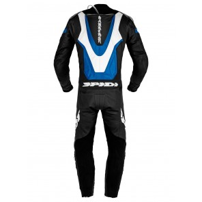 Spidi LASER PRO PERFORATED Leather Suit - Black Blue