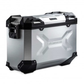 SW-MOTECH TRAX ADV M Aluminium Left Side Case - 37 Liters - Silver