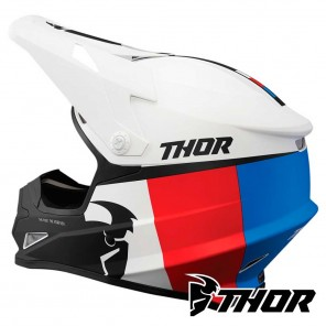 Thor SECTOR RACER Helmet - White Blue Red