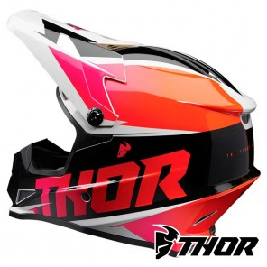 Thor SECTOR FADER Helmet - Orange Magenta