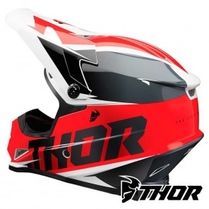 Thor SECTOR FADER Helmet - Red Black