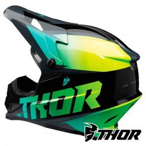 Thor SECTOR FADER Helmet - Acid Teal