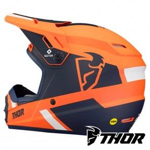 Thor Youth SECTOR SPLIT Helmet - Orange Navy