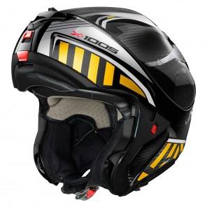 X-lite X-1005 ULTRA CARBON N-COM Cheyenne 15 Helmet - Carbon Silver Gold
