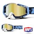 100% THE RACECRAFT Tiedye Goggles - Gold Mirror Lens