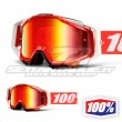 100% THE RACECRAFT Fire Red Goggles - Red Mirror Lens