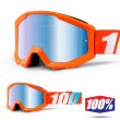100% THE STRATA JUNIOR Orange Goggles - Blue Mirror Lens