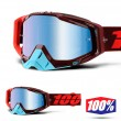 100% THE RACECRAFT Kikass Goggles - Blue Mirror Lens