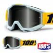 100% THE ACCURI Athleto Goggles - Silver Mirror Lens
