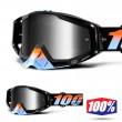100% THE RACECRAFT Starlight Goggles - Silver Mirror Lens