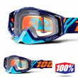 100% THE RACECRAFT Calculus Navy Goggles - Clear Lens