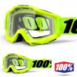 100% THE ACCURI OTG Fluo Yellow Goggles - Clear Lens
