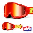 100% THE ACCURI JUNIOR Saarinen MX Goggles - Red Mirror Lens