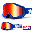 100% THE STRATA JUNIOR Nation Goggles - Red Mirror Lens