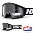 100% THE STRATA MINI Grom Black Goggles - Clear Lens