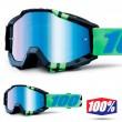 100% THE ACCURI Zurg MX Goggles - Blue Mirror Lens