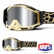 100% THE RACECRAFT + Jiva MX Goggles - Injected Silver Mirror Lens