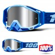100% THE RACECRAFT + Rodion MX Goggles - Injected Silver Mirror Lens