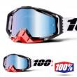 100% THE RACECRAFT Marigot MX Goggles - Blue Mirror Lens