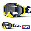 100% THE RACECRAFT Bibal Navy MX Goggles - Clear Lens