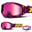 100% THE RACECRAFT Klepto MX Goggles - Pink Mirror Lens