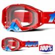 100% THE RACECRAFT Kuriakin MX Goggles - Clear Lens