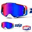 100% ARMEGA Genesis MX Goggles - HiPER Blue Red Mirror Lens