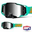 100% ARMEGA Clark MX Goggles - Silver Flash Mirror Lens