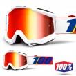 100% THE ACCURI Minima MX Goggles - Red Mirror Lens
