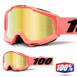100% THE ACCURI Rogen MX Goggles - Gold Mirror Lens