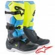 Alpinestars TECH 3 MX Boots - Cool Grey Yellow Fluo Cyan