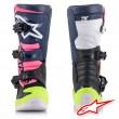 Alpinestars TECH 3S Youth MX Boots - Black Dark Blue Pink Fluo