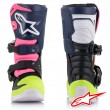 Alpinestars TECH 3S Kids MX Boots - Black Dark Blue Pink Fluo