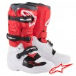 Alpinestars TECH 7S Youth MX Boots - White Red Grey