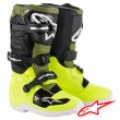 Alpinestars TECH 7S Youth MX Boots - Yellow Fluo Military Green Black