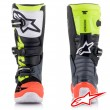Alpinestars TECH 7S Youth MX Boots - Dark Grey Red Fluo Yellow Fluo
