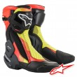 Alpinestars SMX PLUS V2 Motorcycle Boots - Black Red Fluo Yellow Fluo Grey
