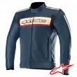 Alpinestars DYNO V2 Leather Jacket - Navy Stone Red