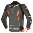 Alpinestars CELER V2 Leather Jacket - Black White Red Fluo