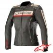 Alpinestars STELLA DYNO V2 Women's Leather Jacket - Black Stone Red
