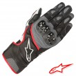 Alpinestars SP-2 V2 Leather Gloves - Black Grey Red Fluo