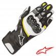 Alpinestars SP-2 V2 Leather Gloves - Black White Yellow Fluo
