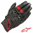 Alpinestars CELER V2 Leather Gloves - Black Red Fluo