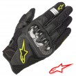 Alpinestars SMX-1 AIR V2 Gloves - Black Yellow Fluo