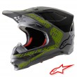 Alpinestars SUPERTECH S-M8 Triple Dirt Bike Helmet - Silver Black Yellow Fluo