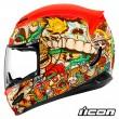 Icon AIRMADA Dia De Los Muertos Full Face Helmet - Red
