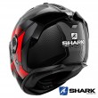 Shark SPARTAN GT CARBON Shestter Full Face Helmet - Carbon Red Anthracite