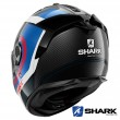 Shark SPARTAN GT CARBON Tracker Full Face Helmet - Carbon Blue Red