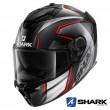 Shark SPARTAN GT CARBON Kromium Full Face Helmet - Carbon Chrom Red