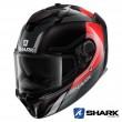 Shark SPARTAN GT Tracker Full Face Helmet - Black Red Silver